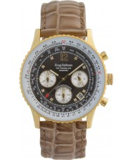 Krug-Baumen 400213DS viaggiatore Air diamante marrone quadrante cinturino marrone